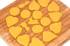 Baking home made cookies Stock Photos