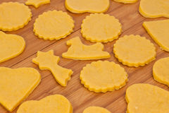 Baking home made cookies Royalty Free Stock Images