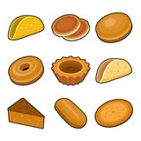 Baking icon set Royalty Free Stock Image