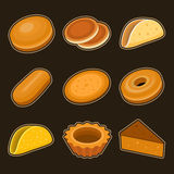 Baking icon set. This is file of EPS8 format Stock Images