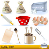 Baking icons. Set of colored illustration of baking icons stock illustration