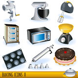 Baking icons 2. Illustration of colored baking icons - part 2 Royalty Free Stock Photography