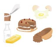 Baking Icons Royalty Free Stock Photography