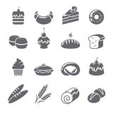 Baking Icons Black Royalty Free Stock Image