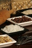 Baking Ingredients. An assortment of baking ingredients for cookies, pies & cakes Stock Images