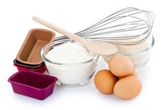 Baking ingredients Stock Photos
