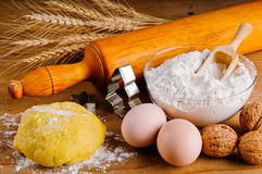 Baking ingredients Stock Image