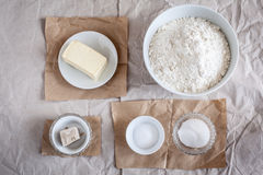 Baking Ingredients Stock Image