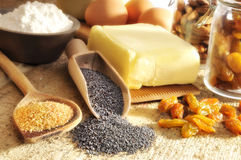 Baking ingredients royalty free stock photography