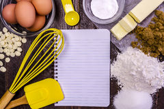 Baking Ingredients from Above Royalty Free Stock Photo