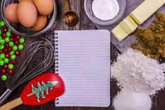 Baking Ingredients from Above Stock Photography