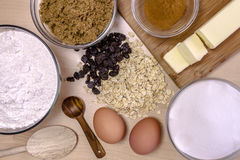 Baking Ingredients from Above Royalty Free Stock Photos