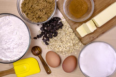Baking Ingredients from Above Stock Images