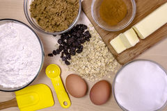 Baking Ingredients from Above Royalty Free Stock Photography