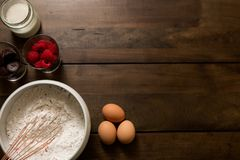 Baking Ingredients For Amazing Cake Royalty Free Stock Photography