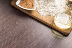 Baking ingredients background Stock Photography
