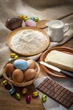 Easter Baking ingredients Stock Image