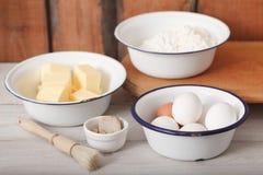 Baking ingredients Royalty Free Stock Photos