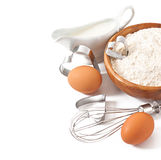 Baking ingredients closeup Stock Photography