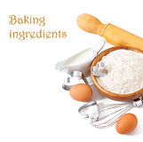 Baking ingredients closeup Stock Photos