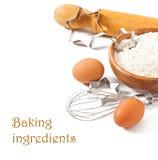 Baking ingredients closeup Royalty Free Stock Images