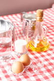Baking ingredients for dough preparation Royalty Free Stock Image