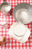 Baking ingredients for dough preparation Royalty Free Stock Photography