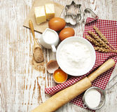 Baking ingredients Stock Photography