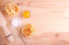 Baking ingredients: flour  eggs Stock Images