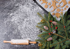 Free Baking Ingredients For Christmas Cookies Gingerbread. Molds For Baking, Spices And  Decorations For Christmas. Royalty Free Stock Image - 82054656