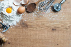 Baking ingredients Royalty Free Stock Photo