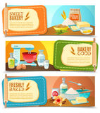 Baking Ingredients Horizontal Banners Royalty Free Stock Image