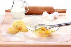 Baking ingredients for noodles Royalty Free Stock Images