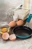 Baking ingredients for pancake. Stock Photography