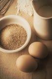 Baking Ingredients Retro Style Kitchen Scene Stock Photography