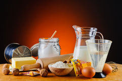 Baking ingredients Stock Images