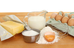 Baking ingredients on worktop Royalty Free Stock Photos