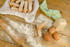 Baking Italian biscuits royalty free stock photo