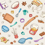 Baking items seamless background Royalty Free Stock Photography