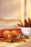 Baking in the kitchen Royalty Free Stock Images