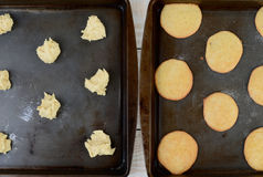 Baking Lemon Cookies Stock Photos