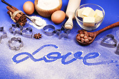 Baking with love Stock Image