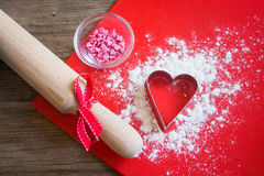 Baking with love Royalty Free Stock Images
