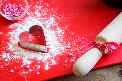 Baking with love Stock Photo