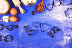 Baking with love stock photography