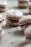 Baking macaroons Royalty Free Stock Photos