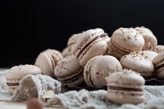 Baking macaroons. With nuts and chocolate Stock Photo