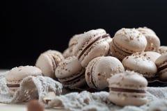 Baking macaroons Stock Photo
