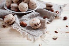 Baking macaroons Royalty Free Stock Images
