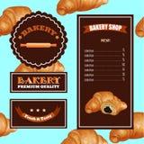 Baking Menu Design. Baking Shop, Cafe, Market Royalty Free Stock Photos
